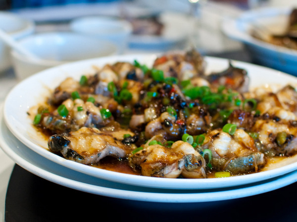Eel with black bean sauce