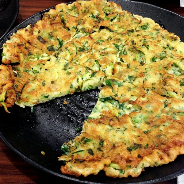 Zucchini and egg pancake